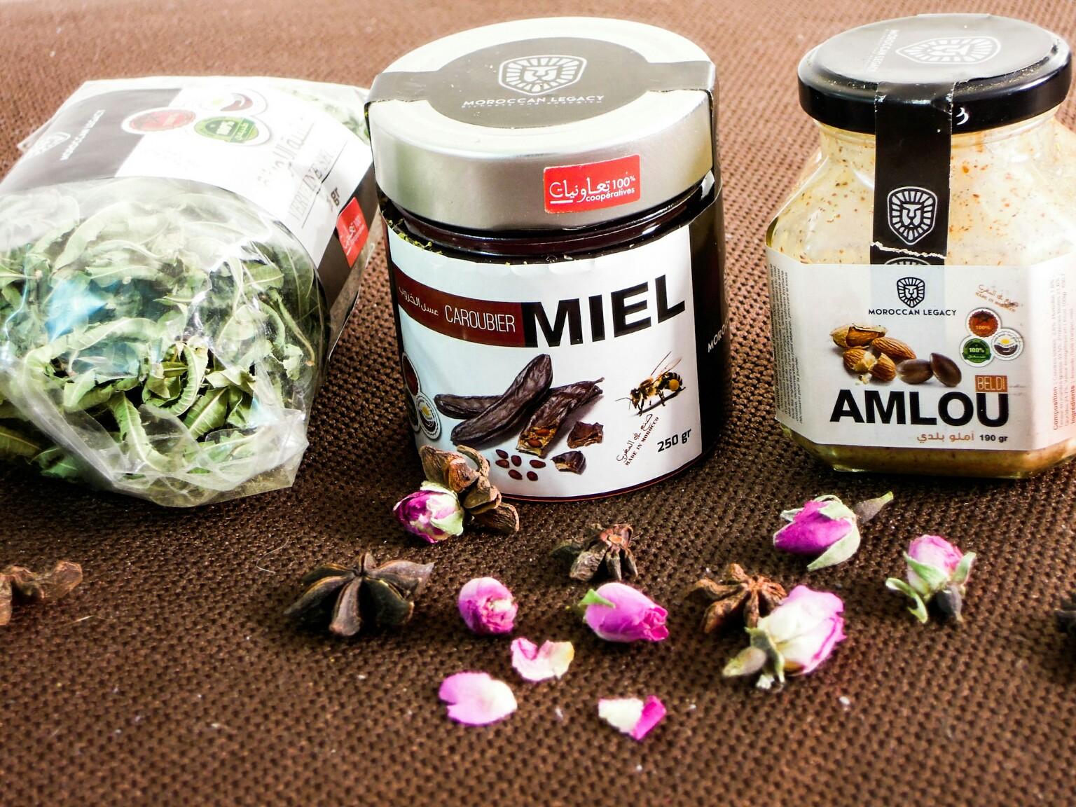 Produkte von Moroccan Legacy: Verbene, Amlou und sortenreiner Honig