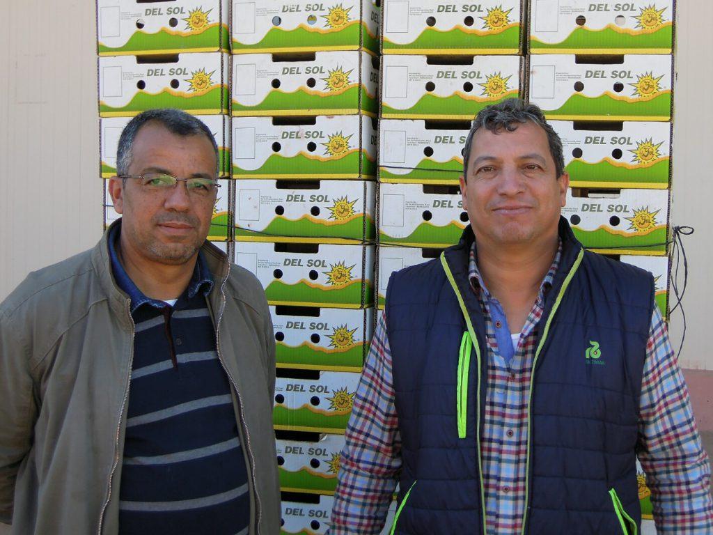 Verwalter Hassan Lairani (links) und Produktionsleiter Hafid Charfaoui (rechts)