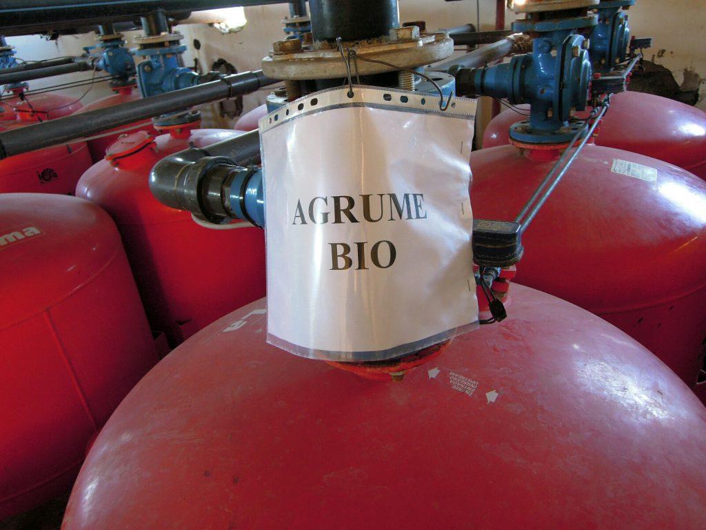 Die Bewässerung der Agrumes/Zitrusfrüchte
