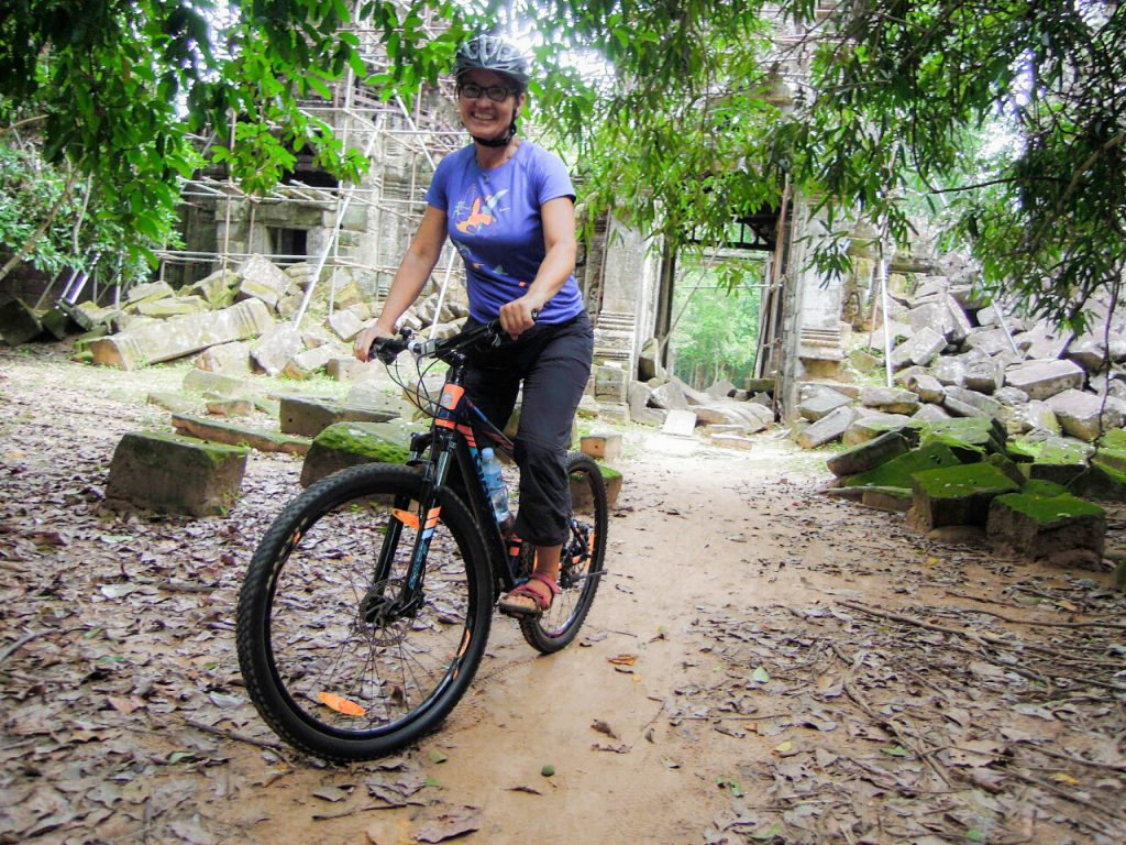 Angkor Cycling Tour Sonja