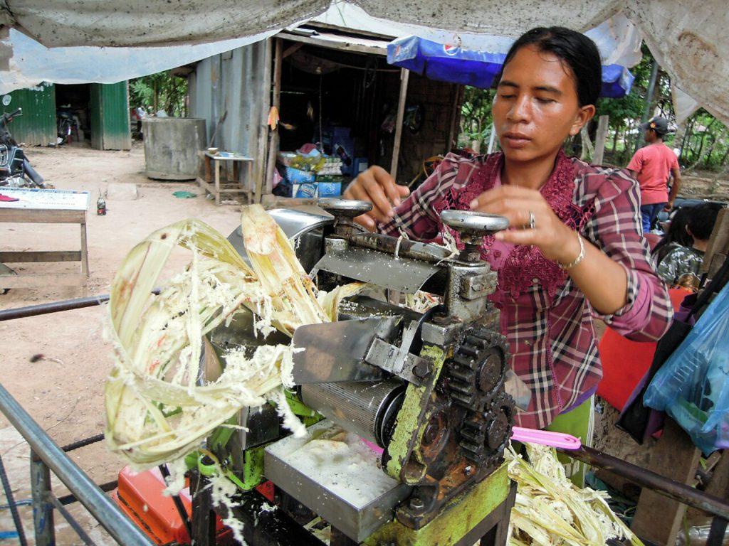 Angkor Zuckerrohrsaft Kambodscha
