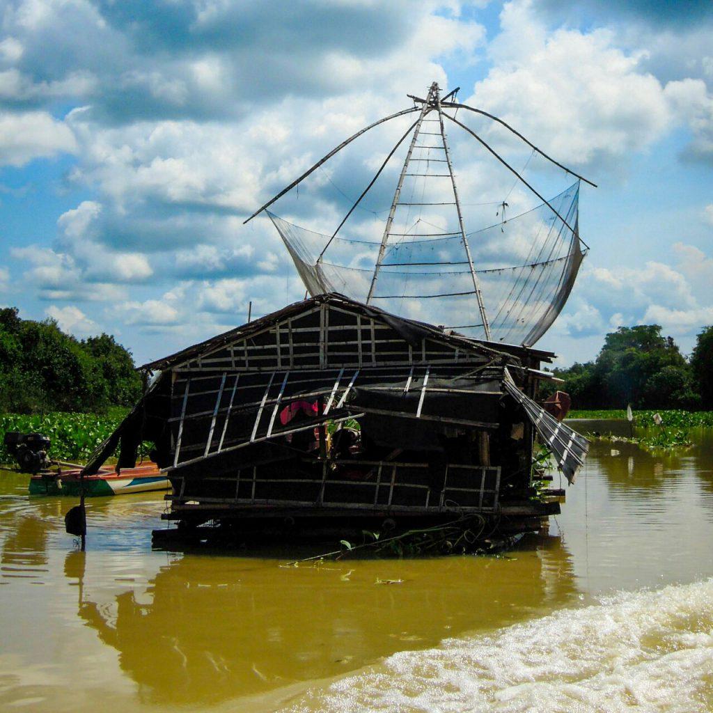 Tonle Sap Fischfang Kambodscha