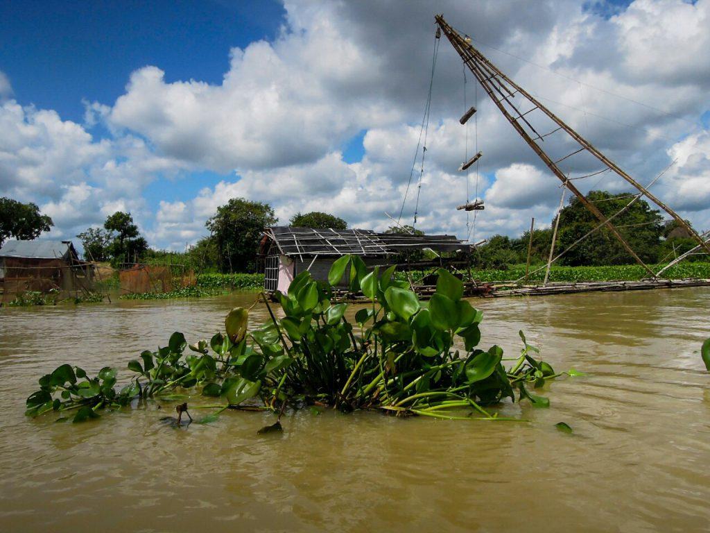 Tonle Sap traditioneller Fischfang Kambodscha