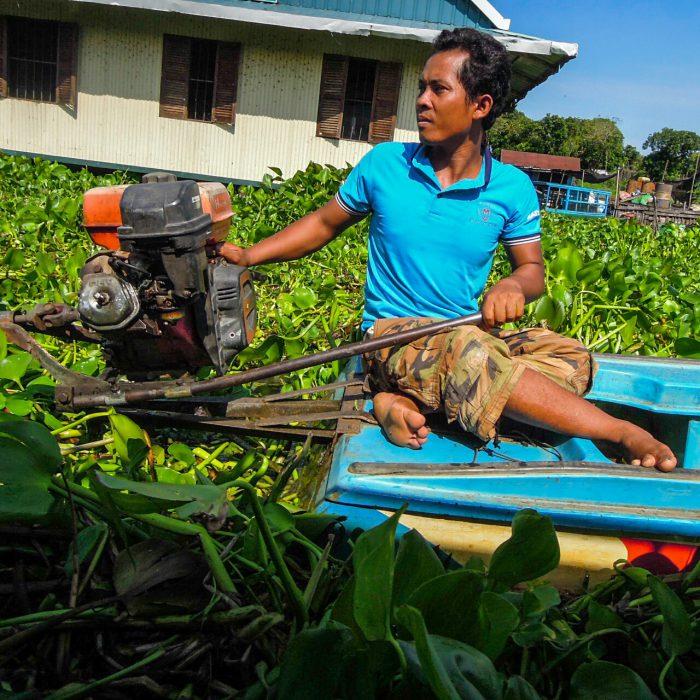Tonle Sap Fischer schwimmende Dörfer Kambodscha