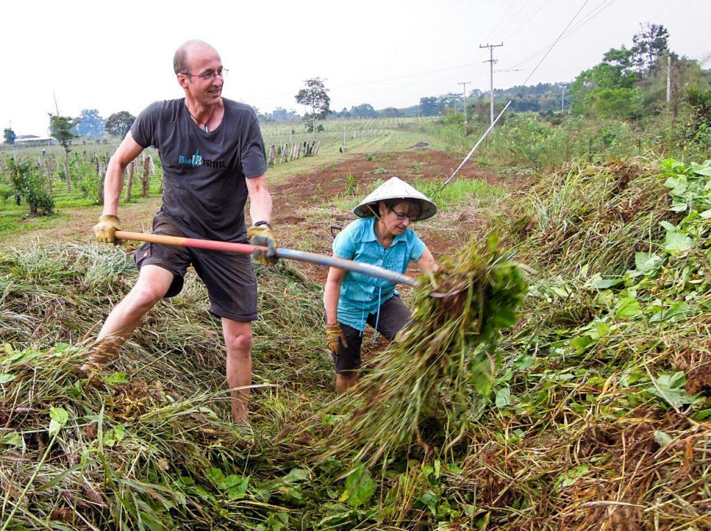 Komposthaufen händisch Aufsetzen Laos