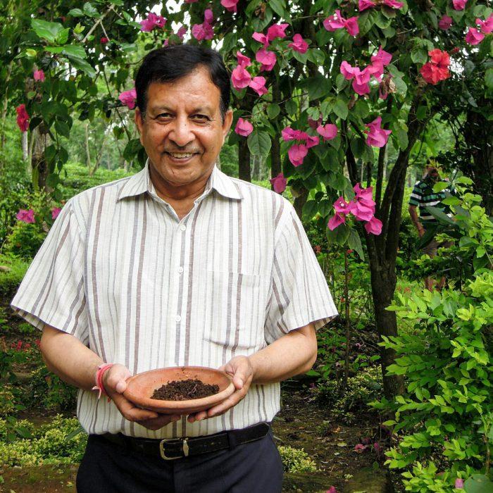 Anil Bansal biodynamisch Wurmkompost Foto (c) Reinhar Gessl