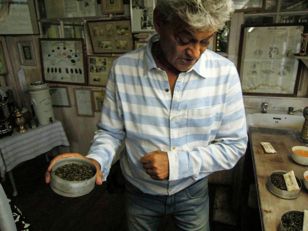 Darjeeling Tee biodynamisch Makaibari Teeverkostung Rajar Banerjee (c) Reinhard Gessl