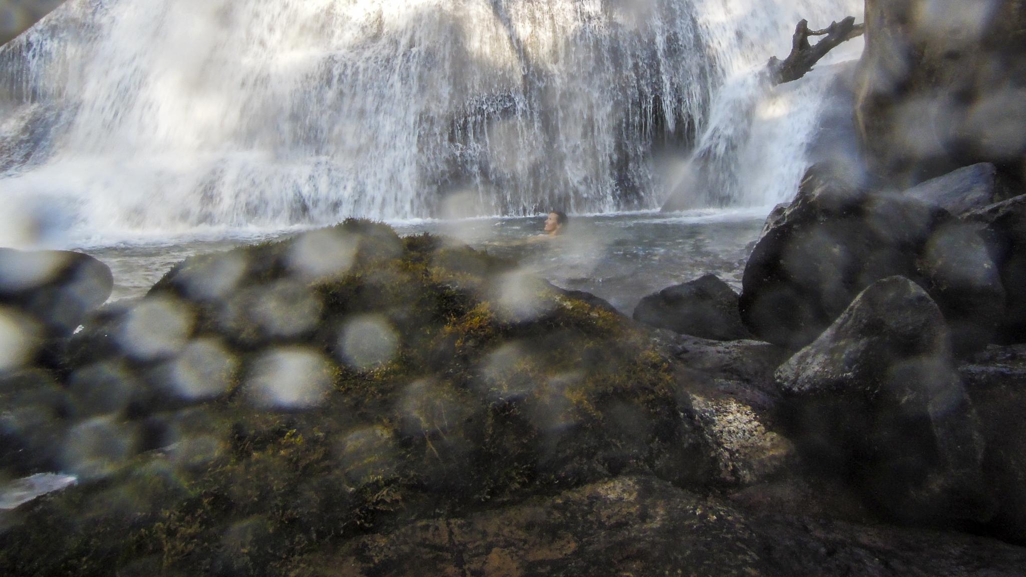 Laos Bolaven-Plateau Waterfall Wasserfall Forschungs-Sabbatical organic17