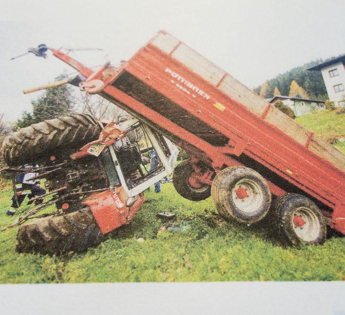 Traktorüberschlag Visionen Tag des Bio-Landbaus