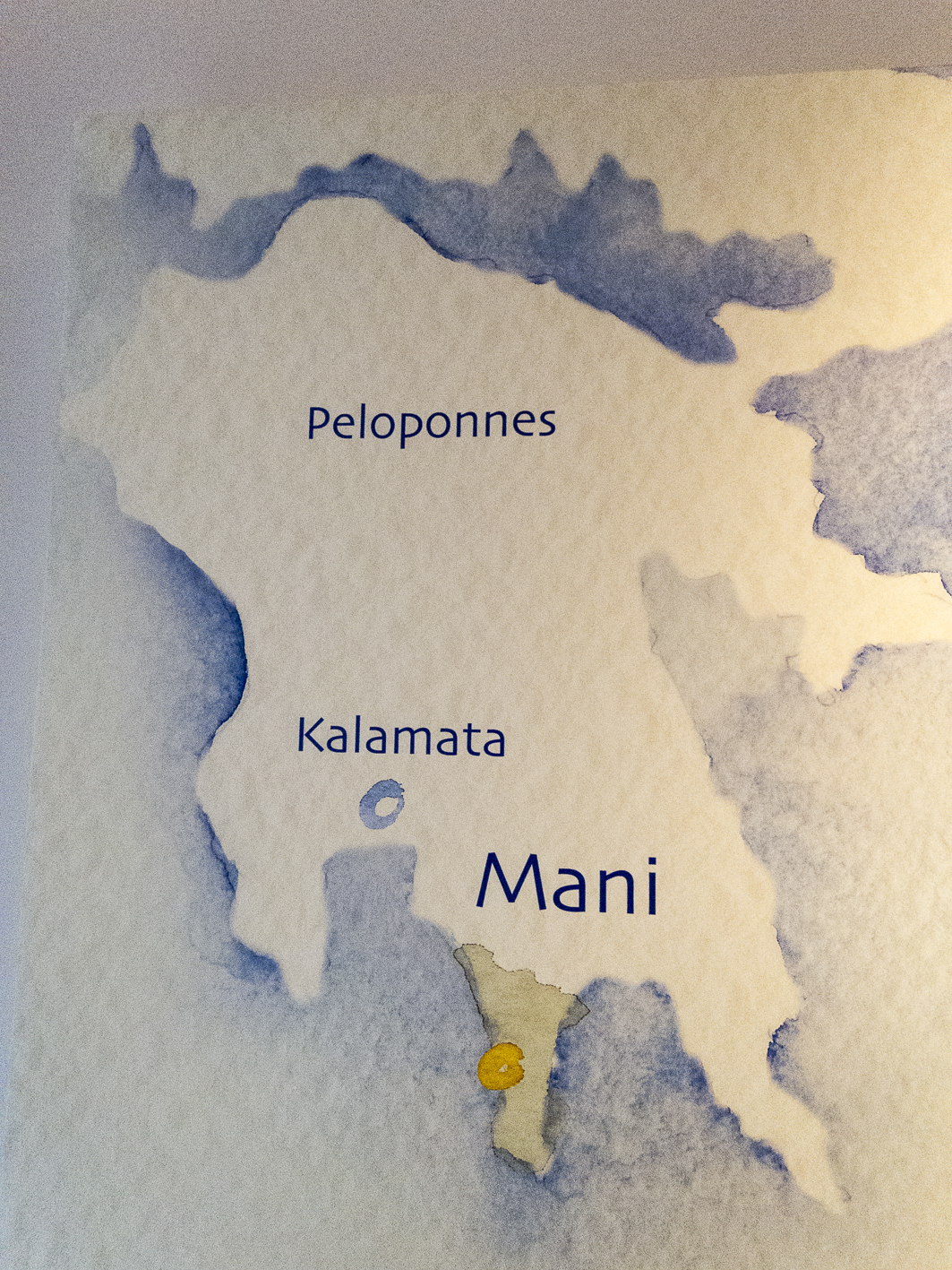 Mani Bio-Olivenöl Peloponnes Landkarte