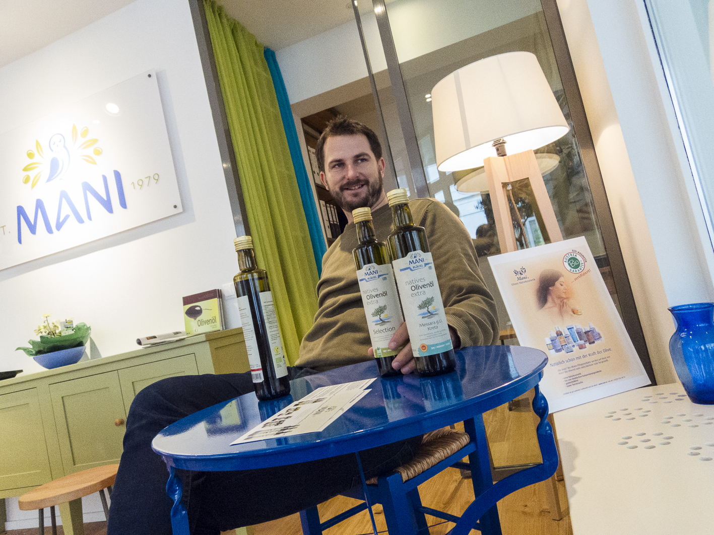 Mani Bio-Olivenöl Felix Bläuel Seidengasse 32 Wien Geschäftslokal